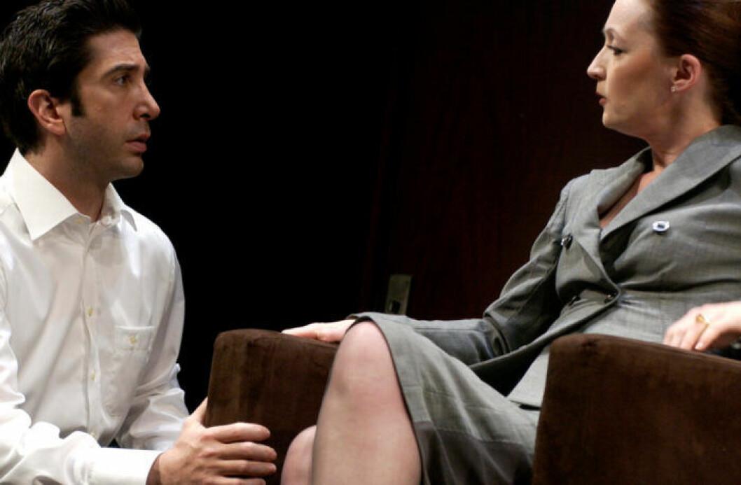 David Schwimmer spelar teater på West End i London 2005.