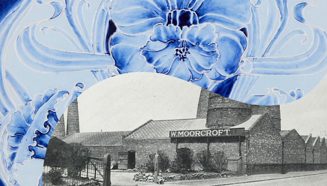 Kollage av bilder från William Moorcroft